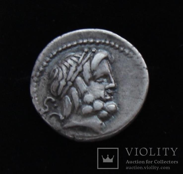 Процилиq 80 год до н.е. Юпитер и Юнона с копьем и щитом (серебро 3.82 г)