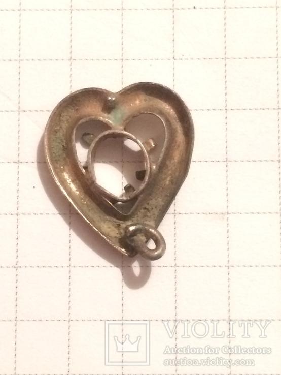 Сердечко-серьга, фото №3