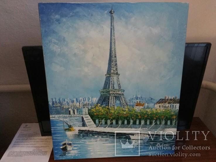 Париж Европа масло 63х53