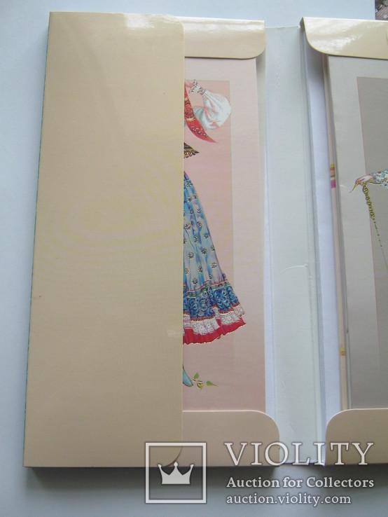 Набір листівок.Народне жіноче вбрання.Західна Україна:Закарпаття,Карпати і Прикарпаття., фото №6