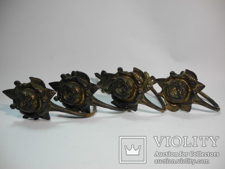 Комплект крючков бронза ( Винтаж Европа ) 4шт, фото №2