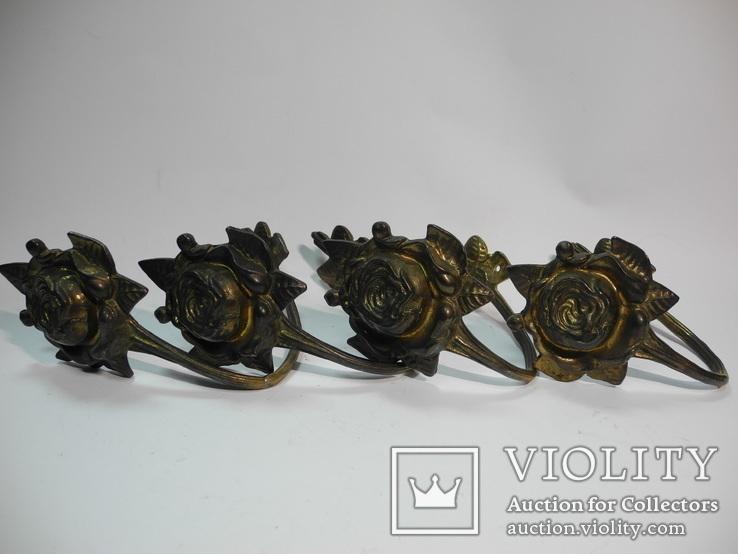Комплект крючков бронза ( Винтаж Европа ) 4шт, фото №4