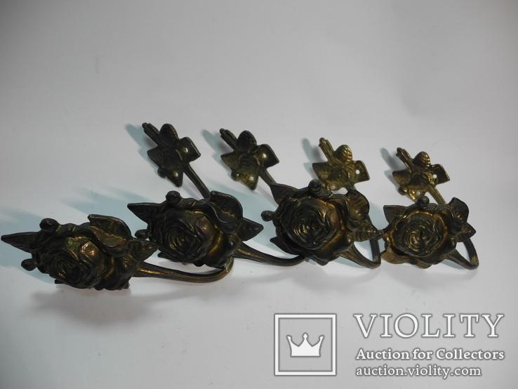 Комплект крючков бронза ( Винтаж Европа ) 4шт, фото №6