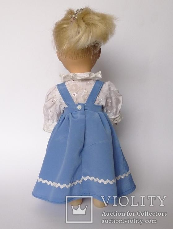 Кукла блондинка в голубом платье с вышивкой., фото №8