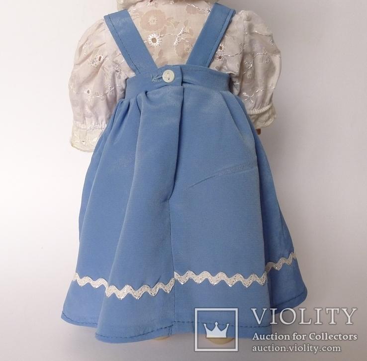 Кукла блондинка в голубом платье с вышивкой., фото №10
