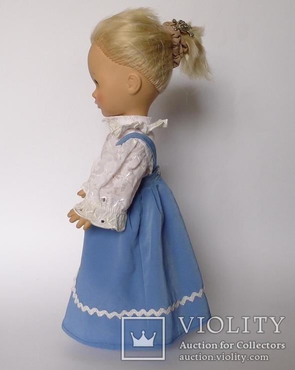 Кукла блондинка в голубом платье с вышивкой., фото №11