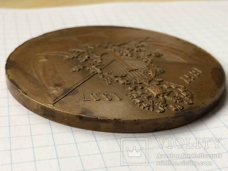 Настольная медаль русское общество пароходства и торговли РОПТ Одесса 1907 г, фото №5