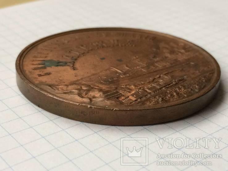 Настольная медаль 50 лет СПБ компании Надежда 1897 г., фото №4