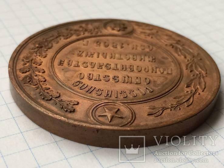 Настольная медаль российское общество покровительства животным 1865 г., фото №6