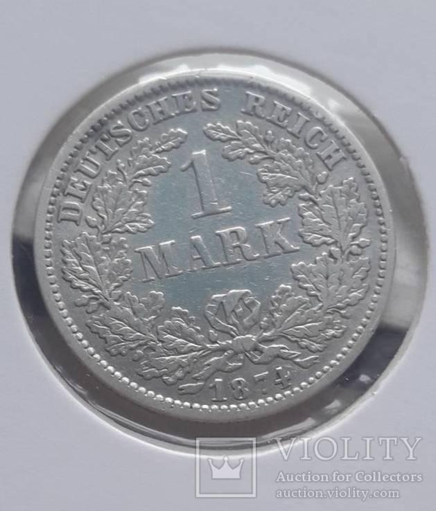 1 марка 1874 F, фото №2
