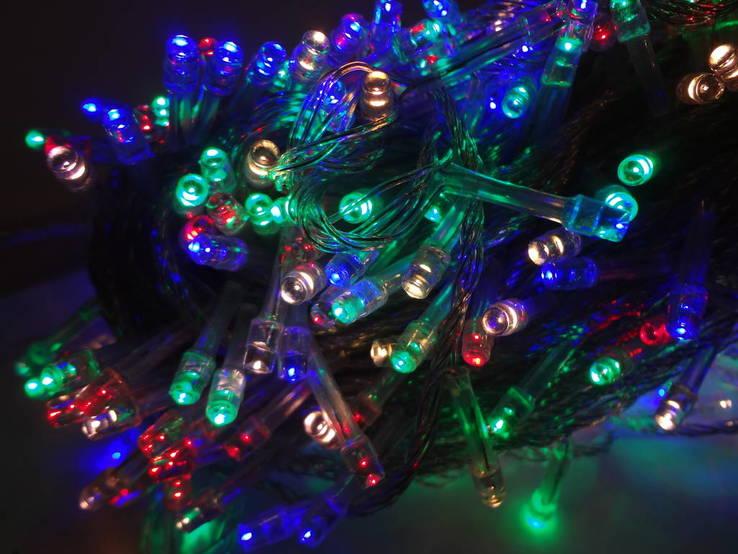 Новорічна гірлянда«Нитка» на 400 лампочок LED .Новогодняя гирлянда.