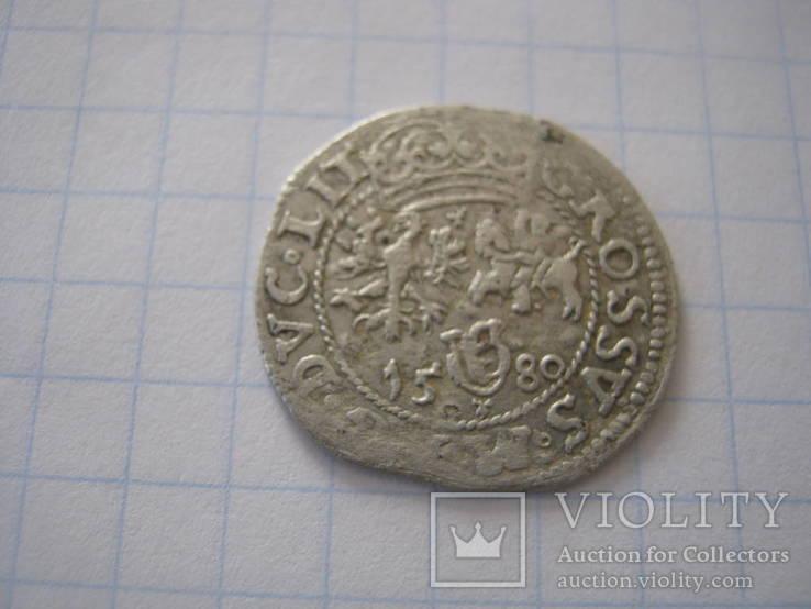 1 грош Стефана Баторія 1580г.(Вільно)R 7.