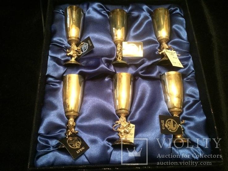 Набор серебряных рюмок (Лев)