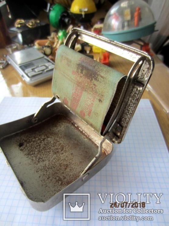 AH do Germany винтажная Машинка для самокруток с табакеркой, фото №3