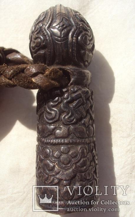 Серебряная ручка печати, Тибет, 19 век., фото №6
