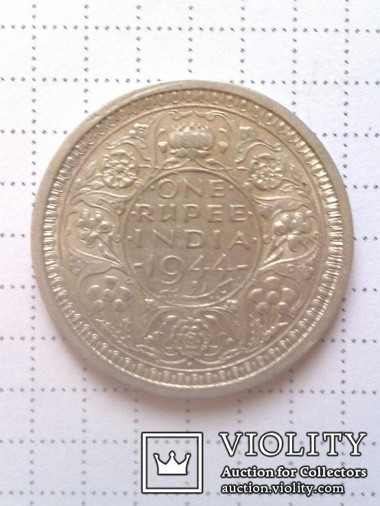 1 рупия 1944 Британская Индия, серебро