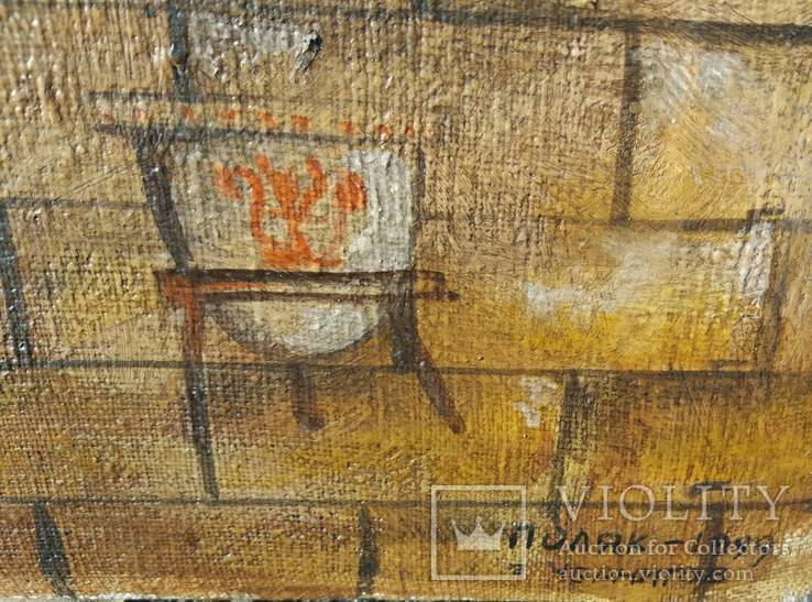 "1999г , А.Поляк ""Охота на единорога"", х.м.61*40см, фото №5"