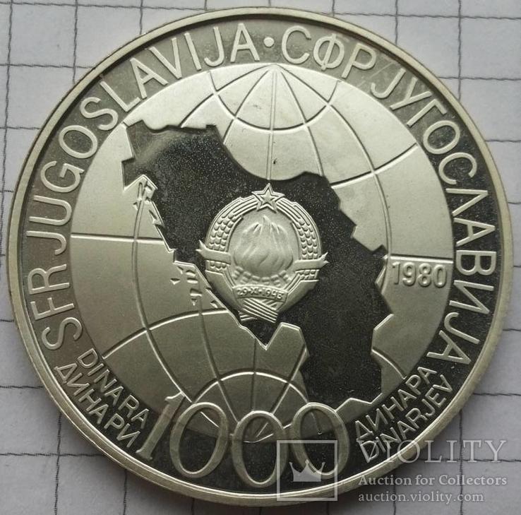 """Серия """"Лидеры Нации"""" Югославия- Иосип Броз Тито 1000 динар"""