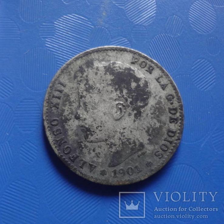 1 песета 1901 Испания   серебро   (Х.2.9)~, фото №2