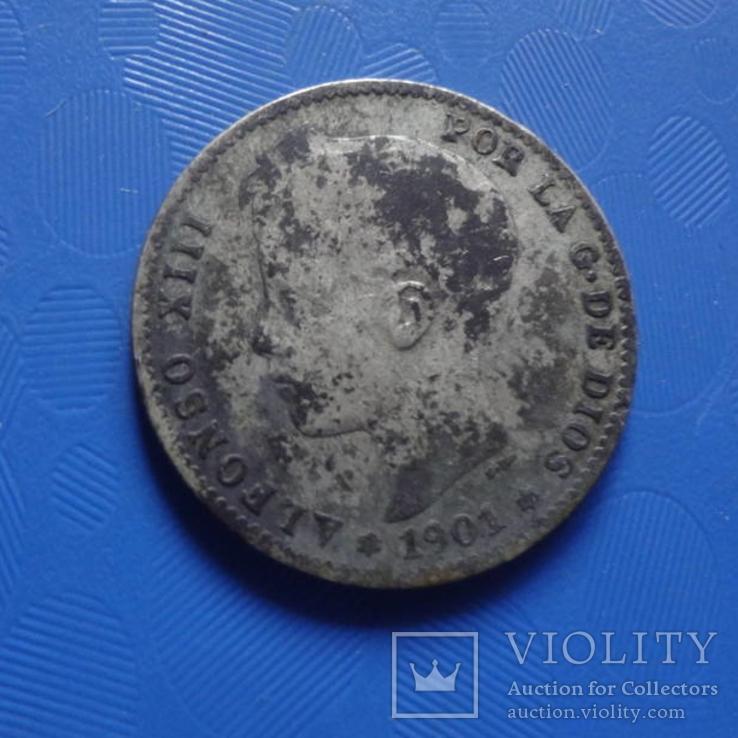1 песета 1901 Испания   серебро   (Х.2.9)~, фото №3