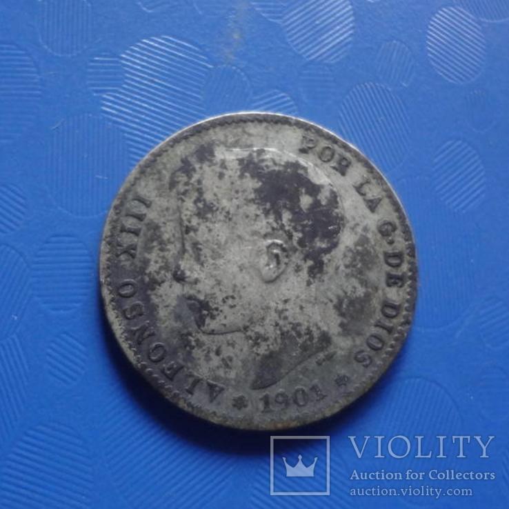 1 песета 1901 Испания   серебро   (Х.2.9)~, фото №4