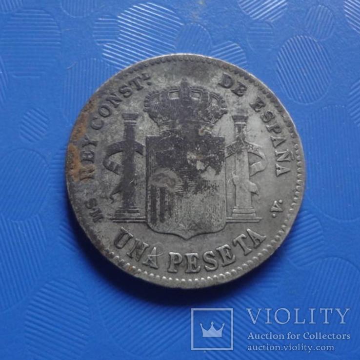 1 песета 1901 Испания   серебро   (Х.2.9)~, фото №5