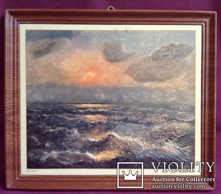 Картина ''Чёрное море''. Художественный сувенир ЧМП. Репродукция., фото №3