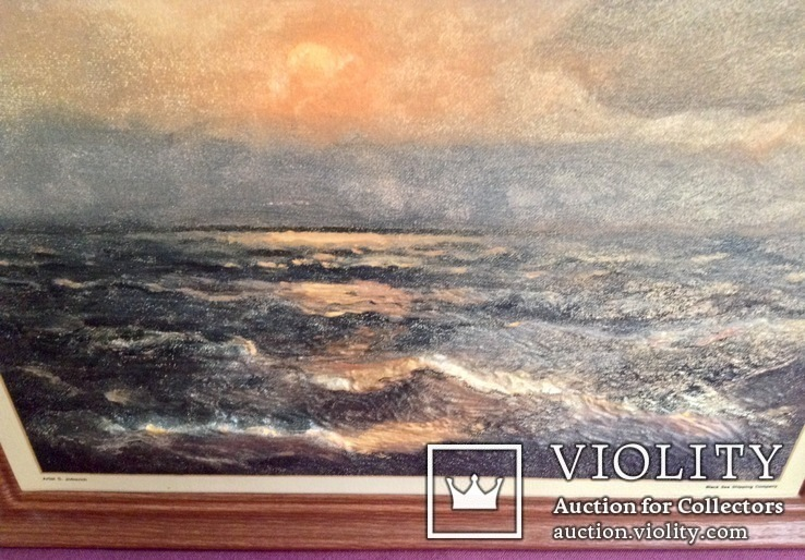 Картина ''Чёрное море''. Художественный сувенир ЧМП. Репродукция., фото №7