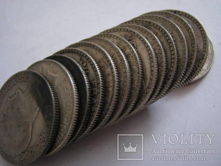 10 франков Франция 14 штук 1929,30,31,32год Серебро