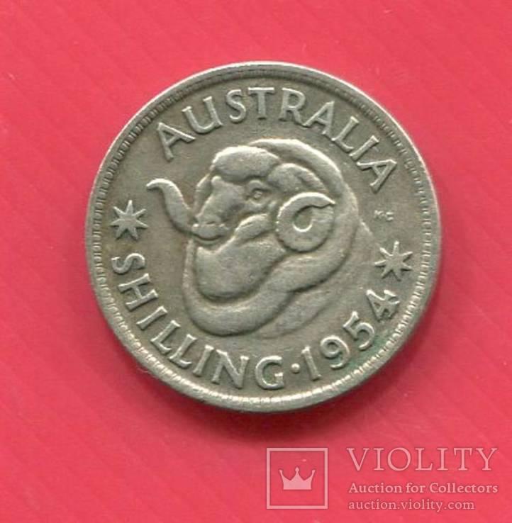 Австралия 1 шиллинг 1954, фото №2