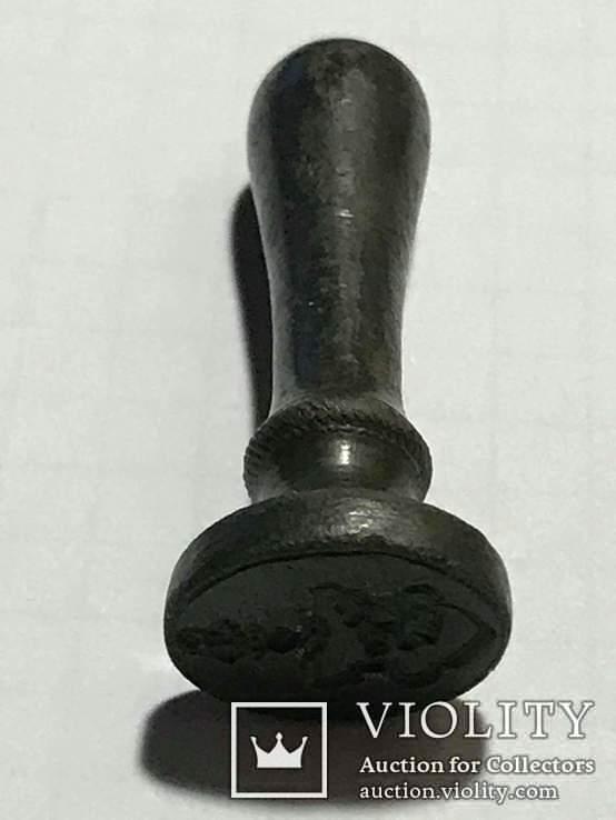 Печать шляхецька 19 ст. Бронза