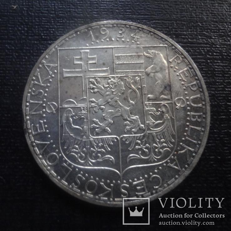 20 крон 1934 Чехословакия  серебро  (К.33.2)~, фото №4