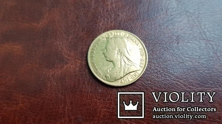 1 соверен 1900 г. Великобритания. Виктория.