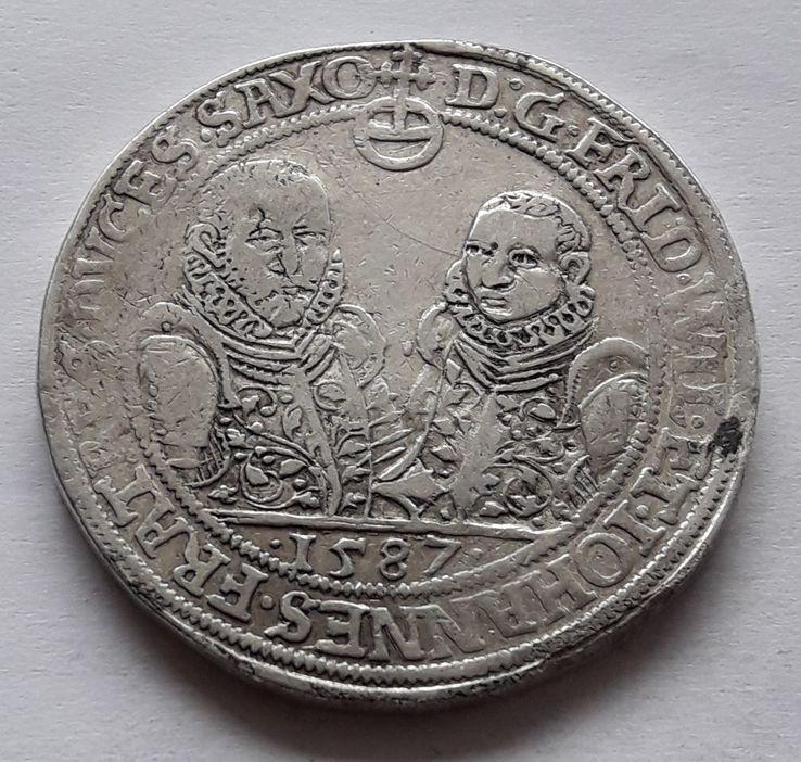 Талер Саксония 1587 г.
