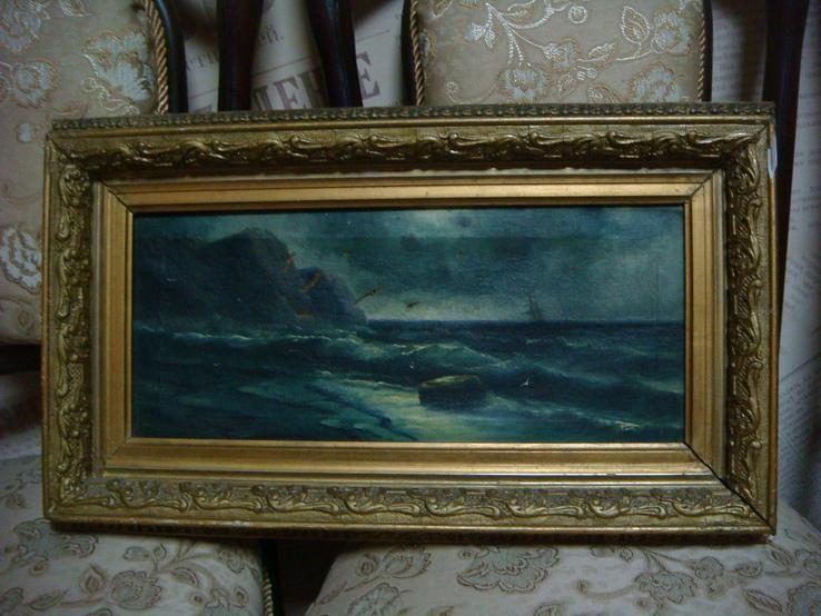 Морской пейзаж. Холст, масло. 28 х 53