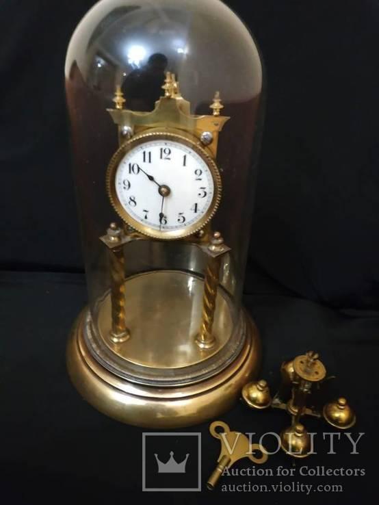 Старинные Латунные Часы Германия з накрутом на 350 дней