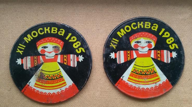 2штуки сувенирные подкладки Москва-85, фото №2