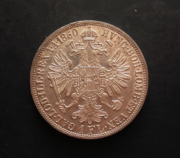 Франц Йосиф І, 1 флорин 1860 А, штемпельний блиск