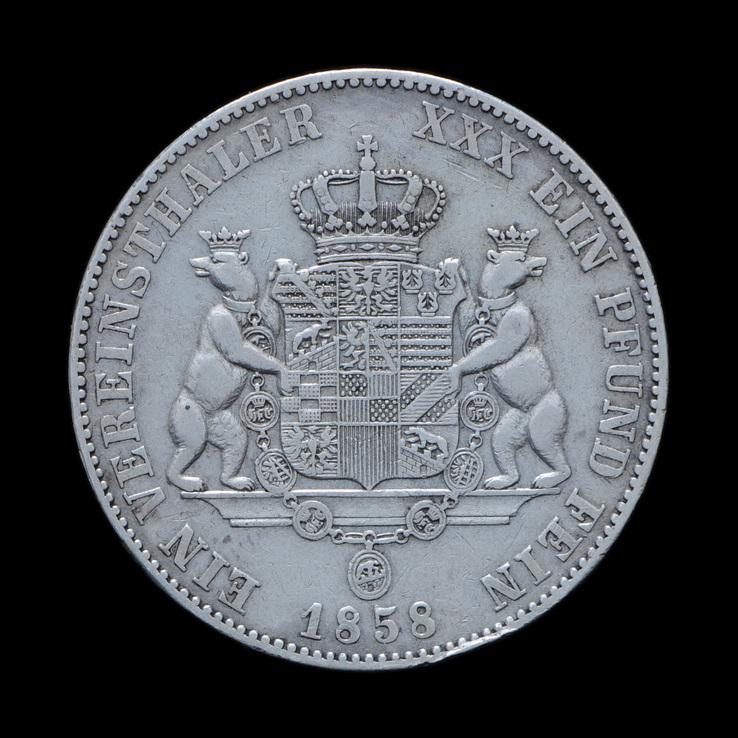 Талер 1858 Леопольд Фридрих, Анхальт