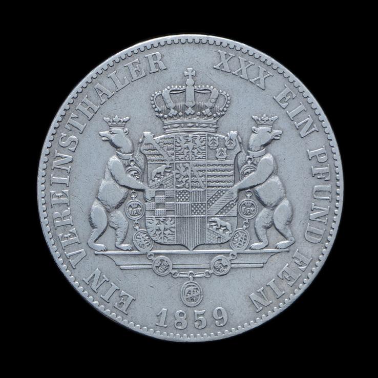 Талер 1859 Александр Карл, Анхальт