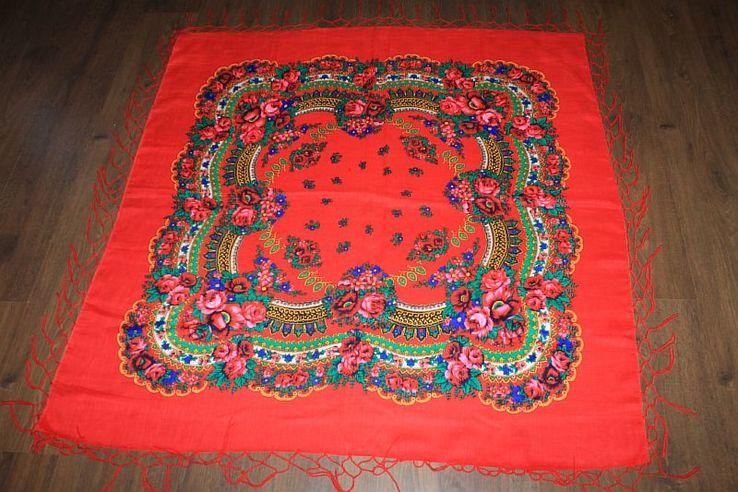 Шерстяной платок №240, фото №2