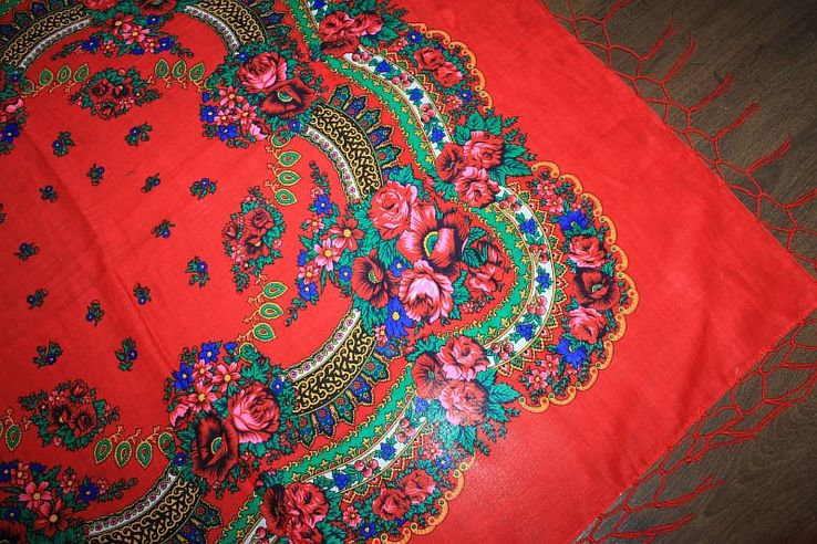 Шерстяной платок №240, фото №5