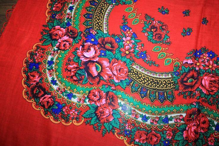 Шерстяной платок №240, фото №7