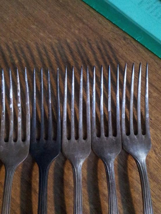 5 вилок мельхиор, фото №4