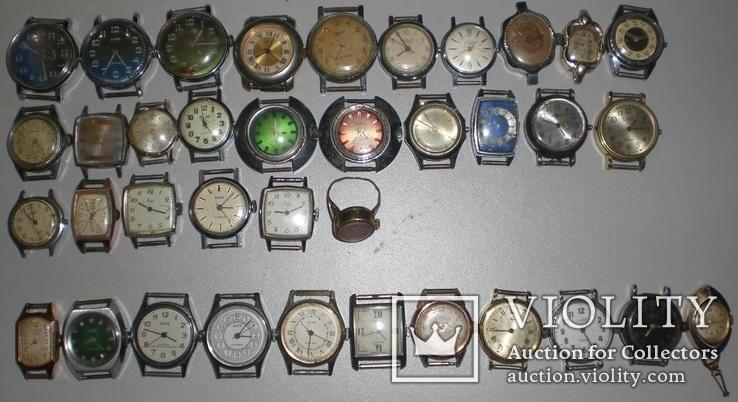 Часы разные много 37 штук