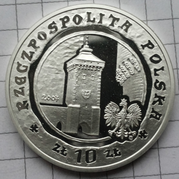 Польша, 10 злотых 2007 года, серебро 14,07 грамма