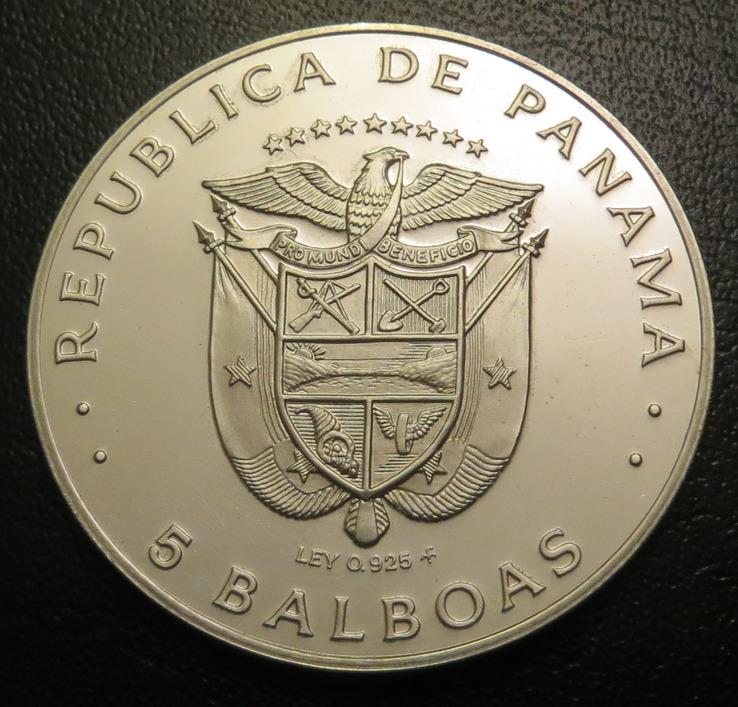 Панама 5 бальбоа 1978 рік срібло 925 Белісаріо Порас, фото №3