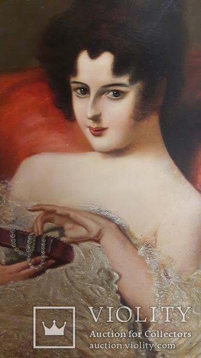 Дамский портрет, 50*60 см, 1928, P.Naumann, Западная Европа