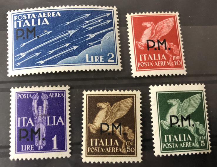 1943. Италия. Военные марки. Полная серия. MNH, фото №2