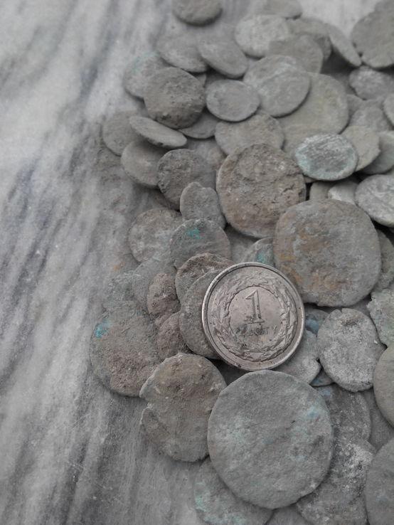 Zesraw monet Rzymskich do czyszczenia 1000 szt.